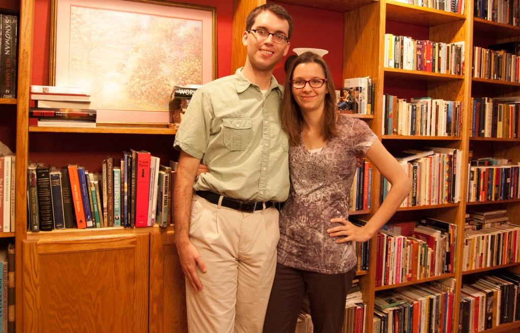Allison and I in front of her library in West Monroe, La.